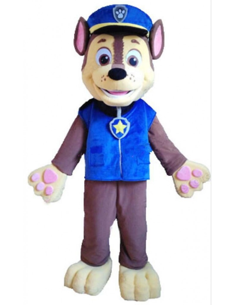 Paw Patrol Chase hound dog mens fancy dress cartoon tv hire rental costume Unbranded