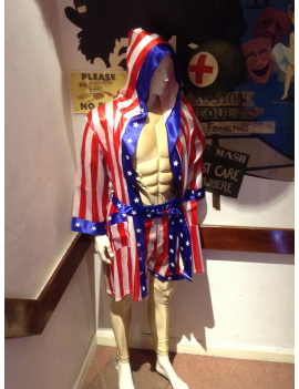 Rocky Balboa mens 80s fancy dress tv film movie character hire deluxe rental hero costume BZ36+DC23