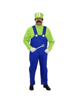 Super Mario Brothers Luigi Mens Costume Make Believe CA5A