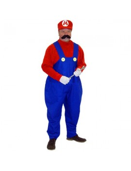 Super Mario Brothers Mario Mens Costume Make Believe CA5