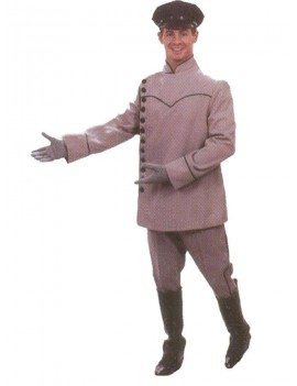 Thunderbirds Parker mens Downton chauffeur grey deluxe period tv 60s fancy dress party costume DI12