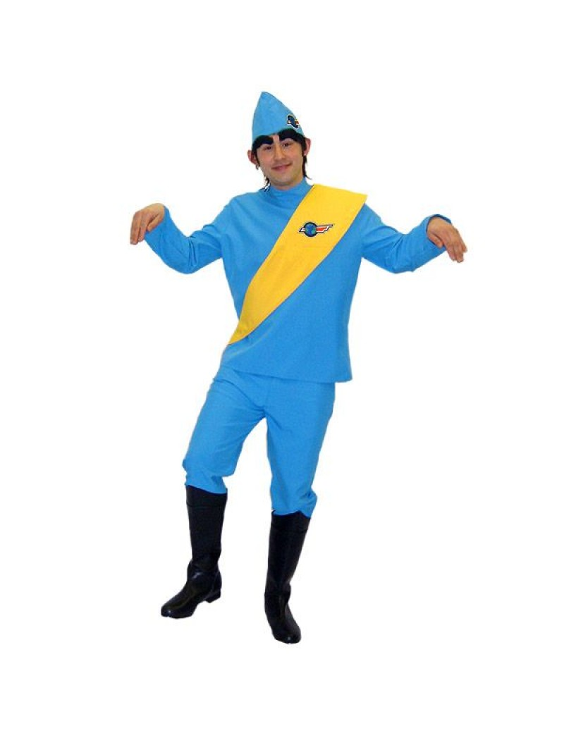 Thunderbirds Tracy Puppet mens cartoon character tv 60s fancy dress party costume BX15 BX16