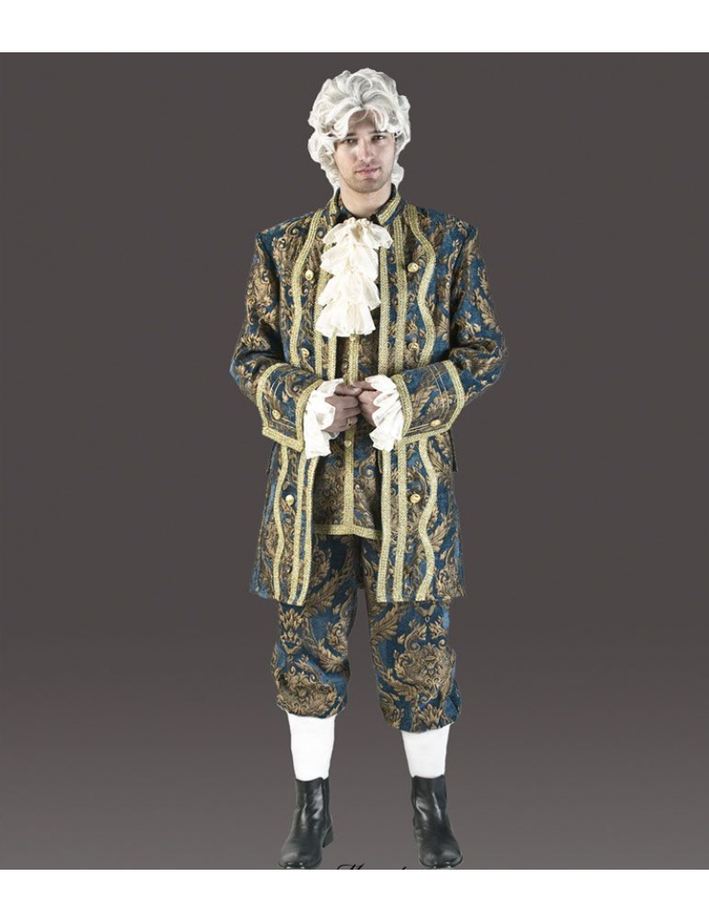 Georgian Gent Mens Blue And Gold Premium Deluxe Costume Tabis CR10B