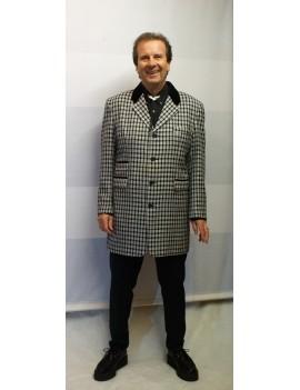 1950s Teddy Boy Suit Black White Check DH16